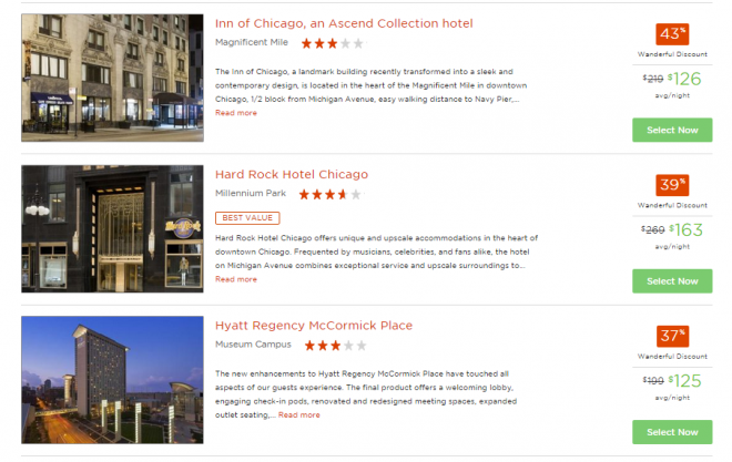 A sample of the deals available exclusively to Wanderful members.