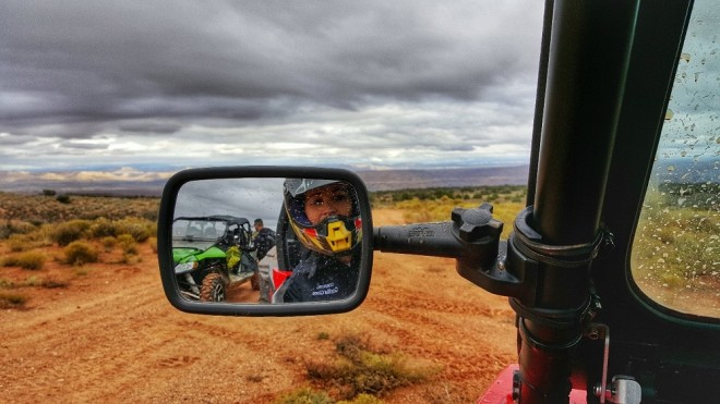 Look who's driving! Image by Beth Santos on a Samsung Galaxy S6 edge+ equipped with Corning Gorilla Glass.
