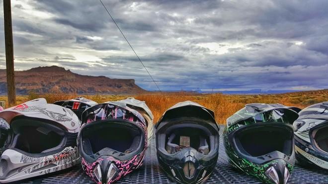 Helmets. Image taken by Beth Santos on a Samsung Galaxy S6 edge+.