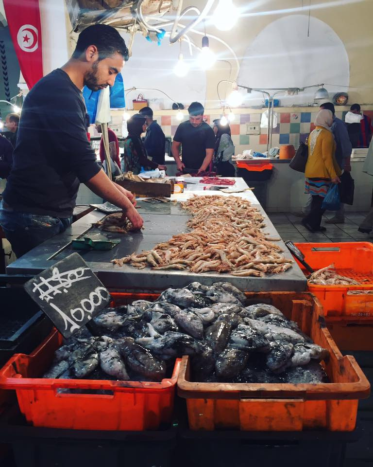 Marche Central fish market tunis tunisia wanderful