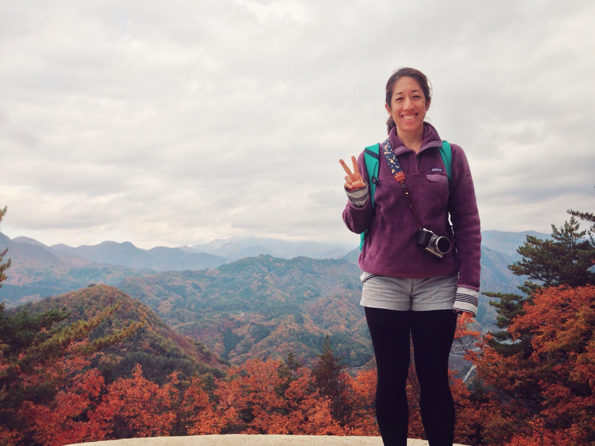 Hiking Shosenkyo Gorge in Yamanashi Prefecture in Japan, anxiety while traveling