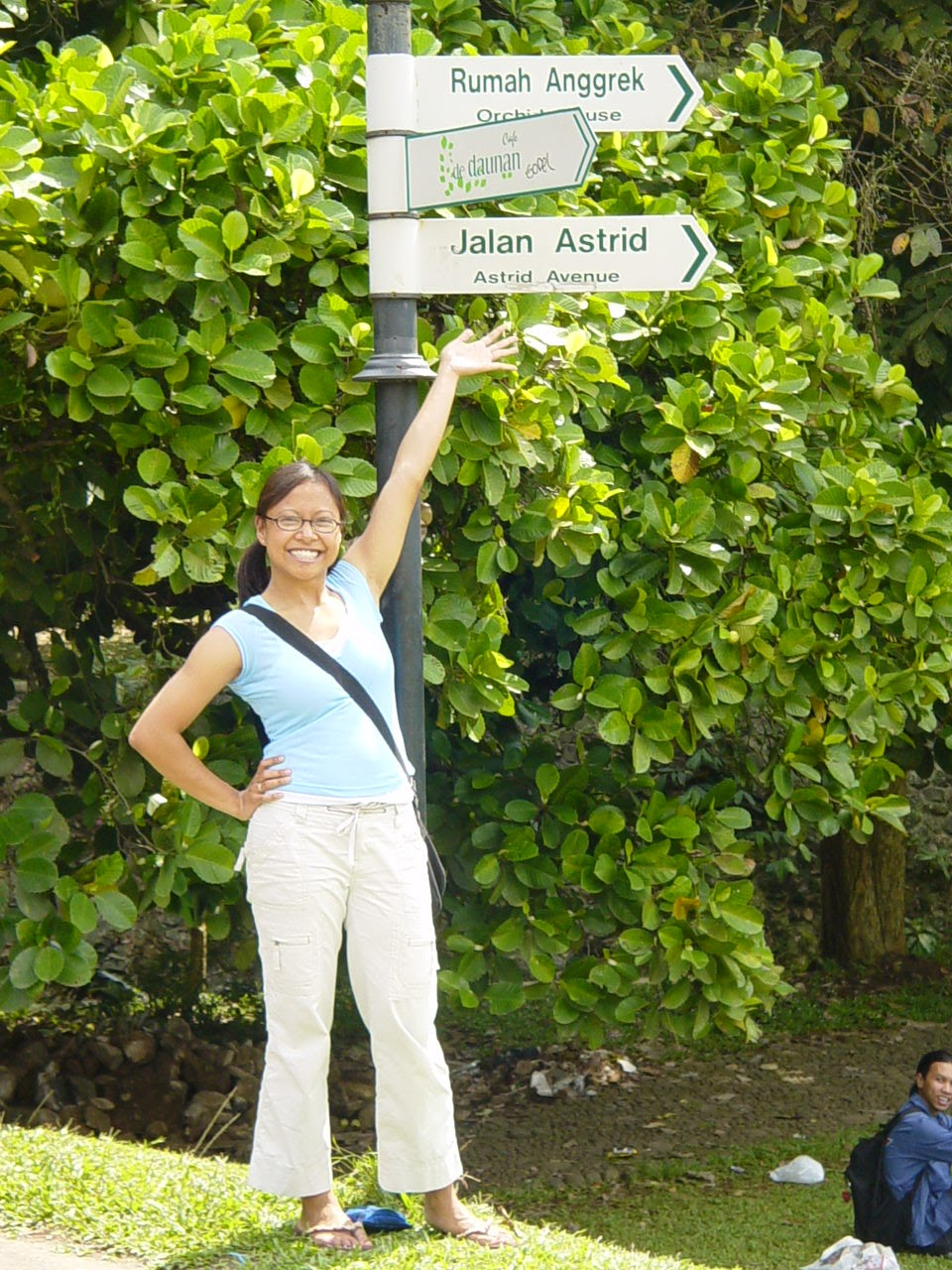Finding my street in Indonesia.