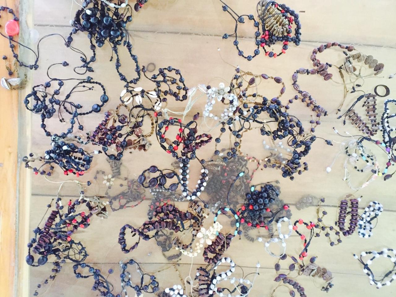 Work by Las Artesanas (female jewelrs).