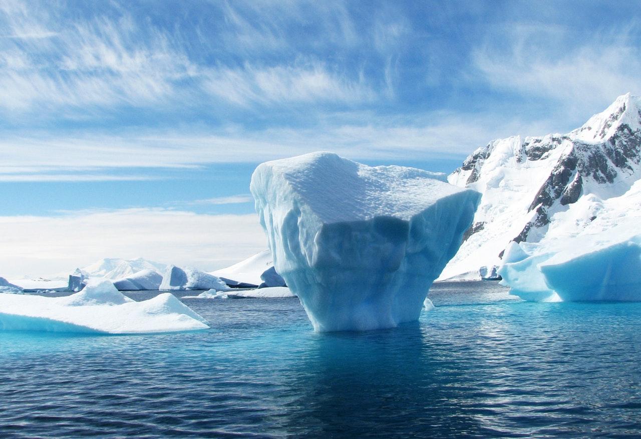 icebergs seen during Antarctica travel