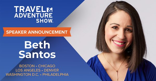 Beth Santos Speaker Announcement for Travel & Adventure Show