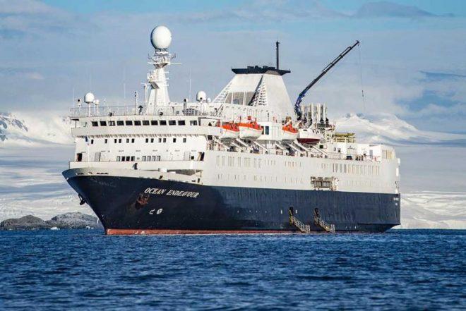 Intrepid Travel Wanderful ship Ocean Endeavor at sea