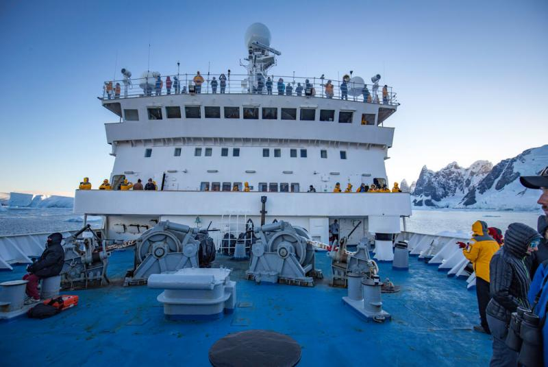 Antarctica travel option - Ocean Endeavour ship with Intrepid Travel and Wanderful