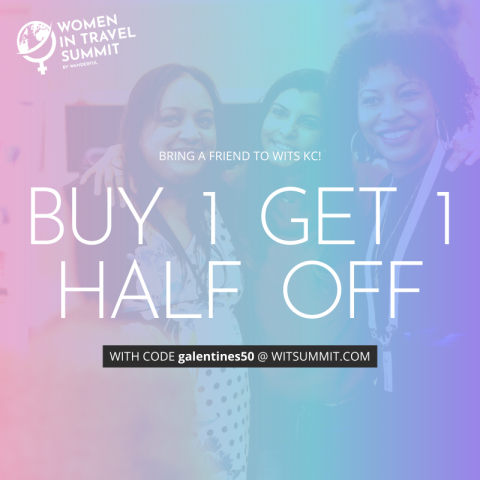galentine's day ad for WITS travel conference sale