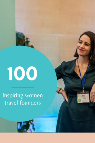 Beth Santos top 100 female travel founders via Travel Massive