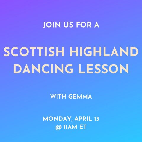 Scottish highland dancing lesson with Gemma and Wanderful