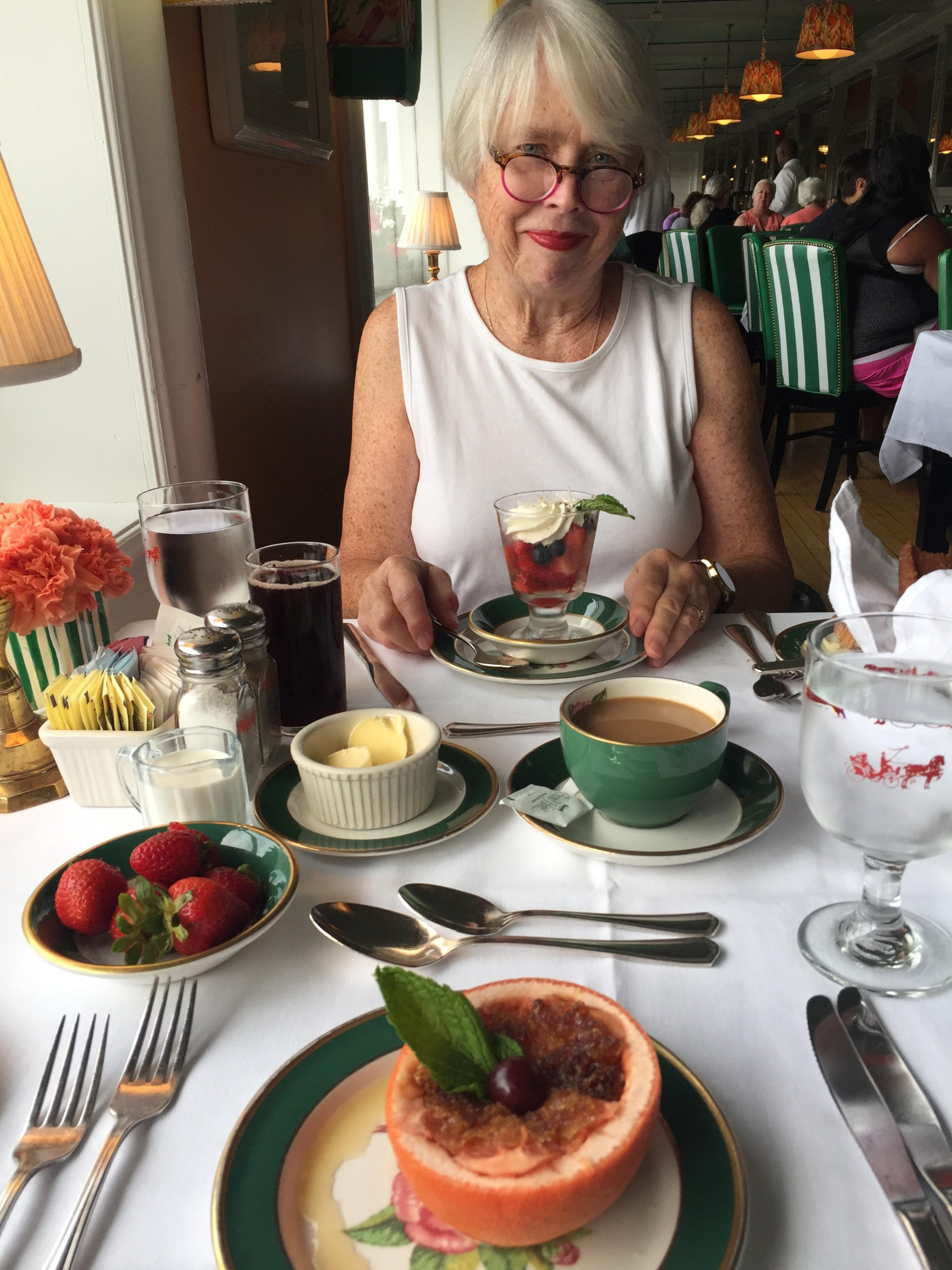traveling with your mom -- fancy meal at a unique Michigan hotel