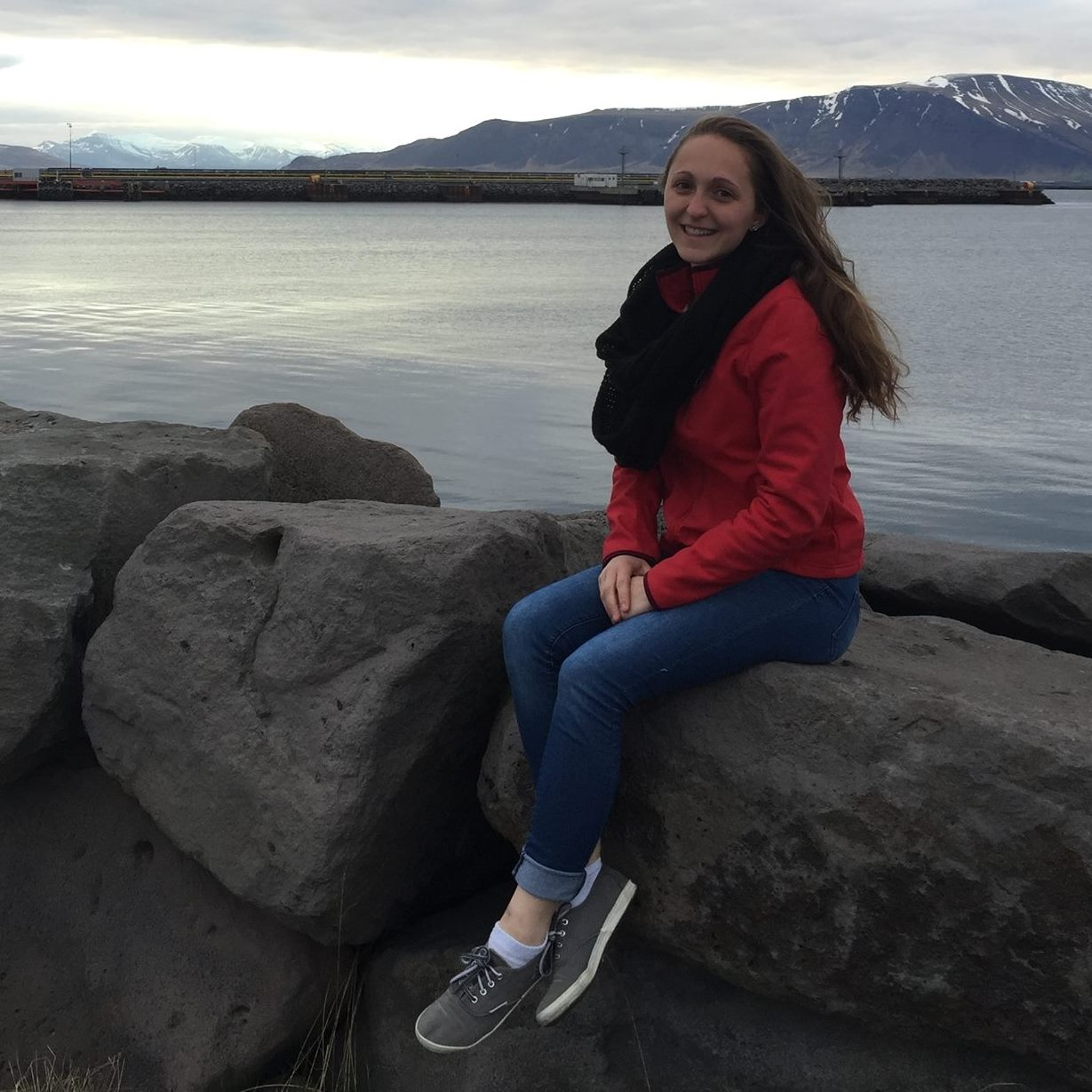 Samantha Weiss in Iceland talking about traveling on your period