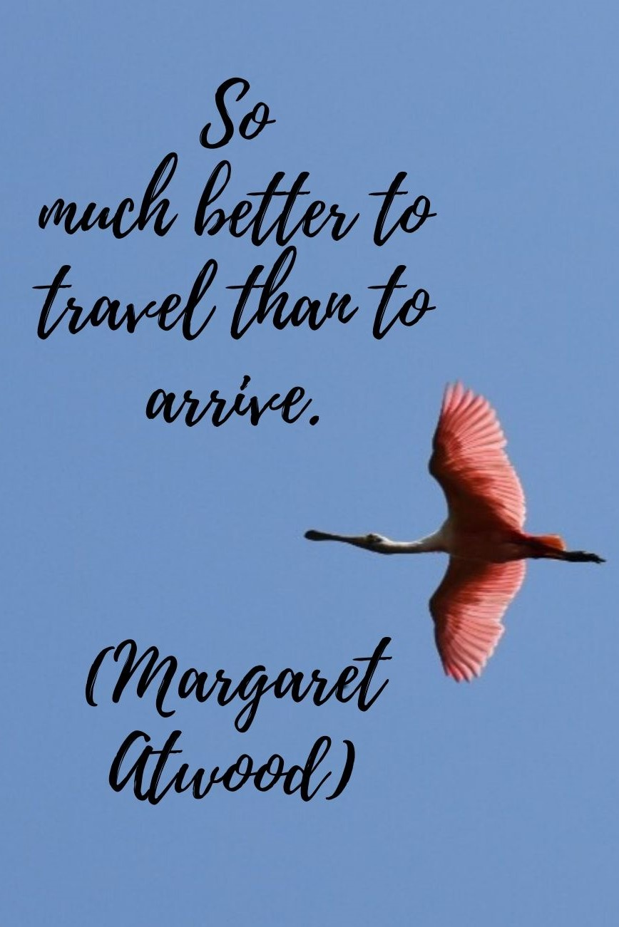 So much better to travel than to arrive - Margaret Atwood quote