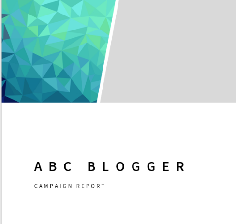 influencer campaign report branded template sample - from Netanya Trimboli for Wanderful