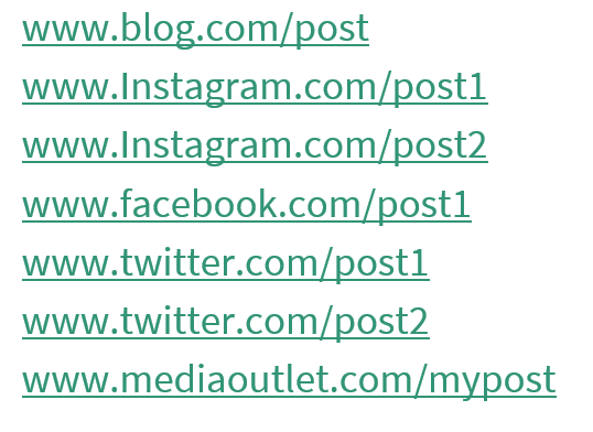 links to offer in a report after an influencer campaign -- from Netanya Trimboli for Wanderful
