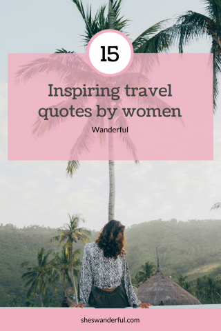 15 inspiring quotes by women writers (Pin from Wanderful)