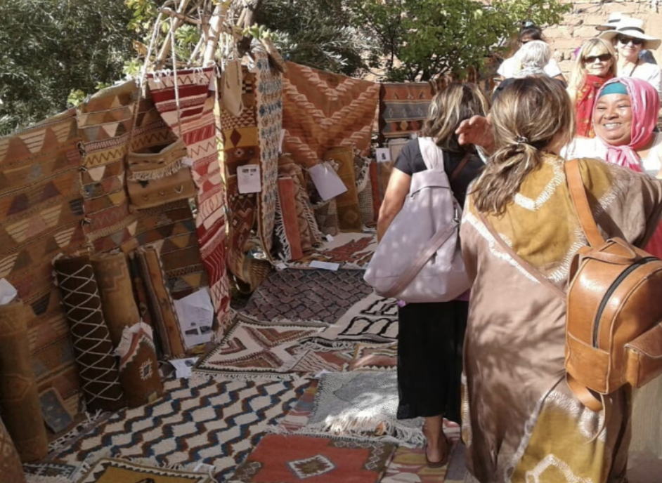 shopping artisan crafts made by women in Morocco
