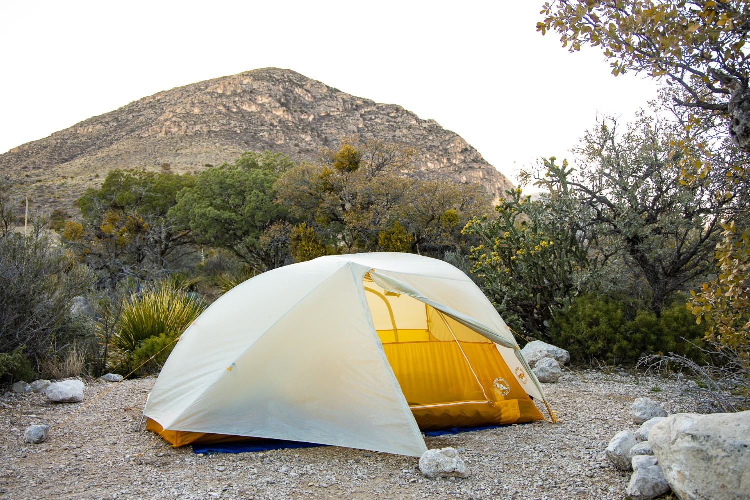 Camping 101 - choosing a spot for your tent in a clearing