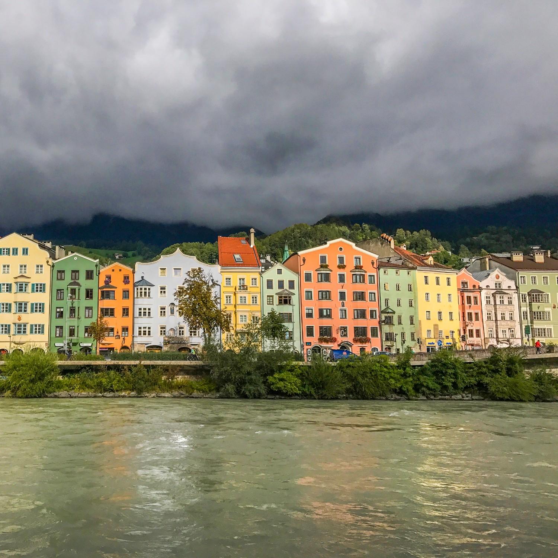 moody skies over Innsbruck