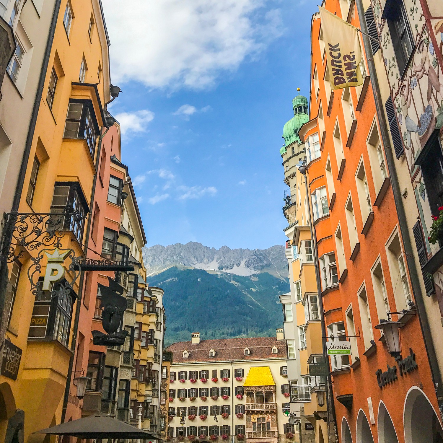 Innsbruck and the mountains