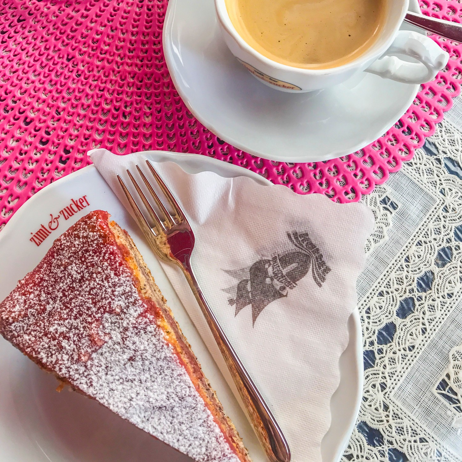 cake and coffee in Innsbruck