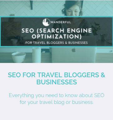 SEO (Search Engine Optimization) course details for Travel Bloggers & Businesses