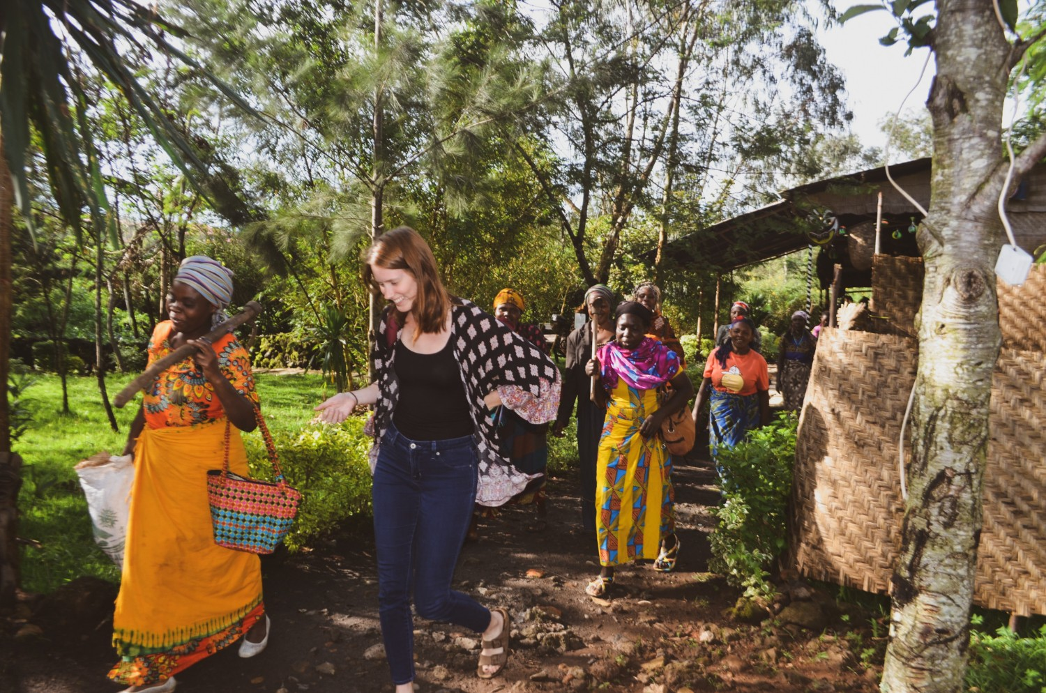 Alicia Erickson, author at Wanderful, leaving a weaving cooperative meeting with members of Red Rocks in Rwanda