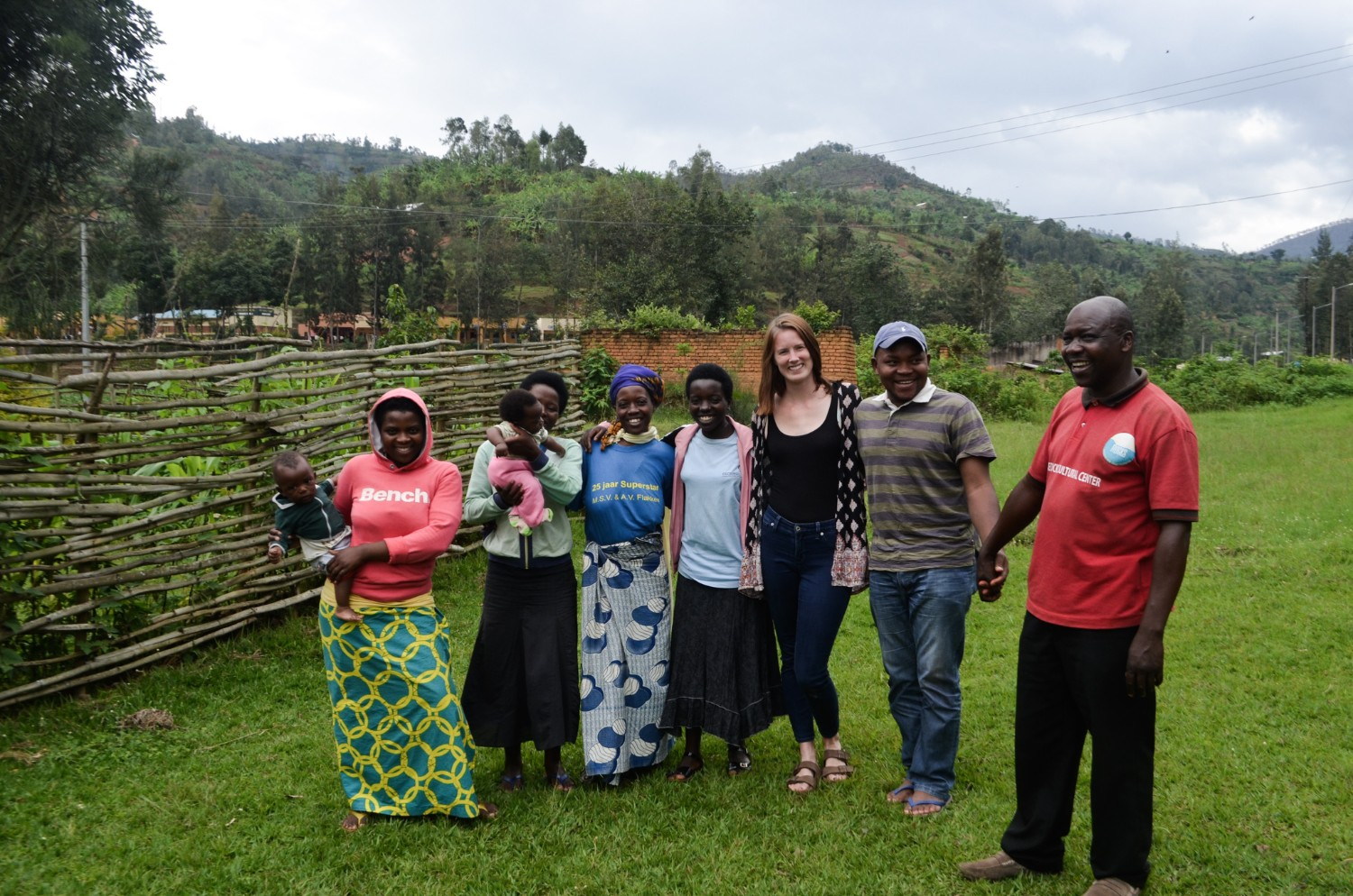 Wanderful author Alicia Erickson with the Red Rocks weaving cooperative in Rwanda