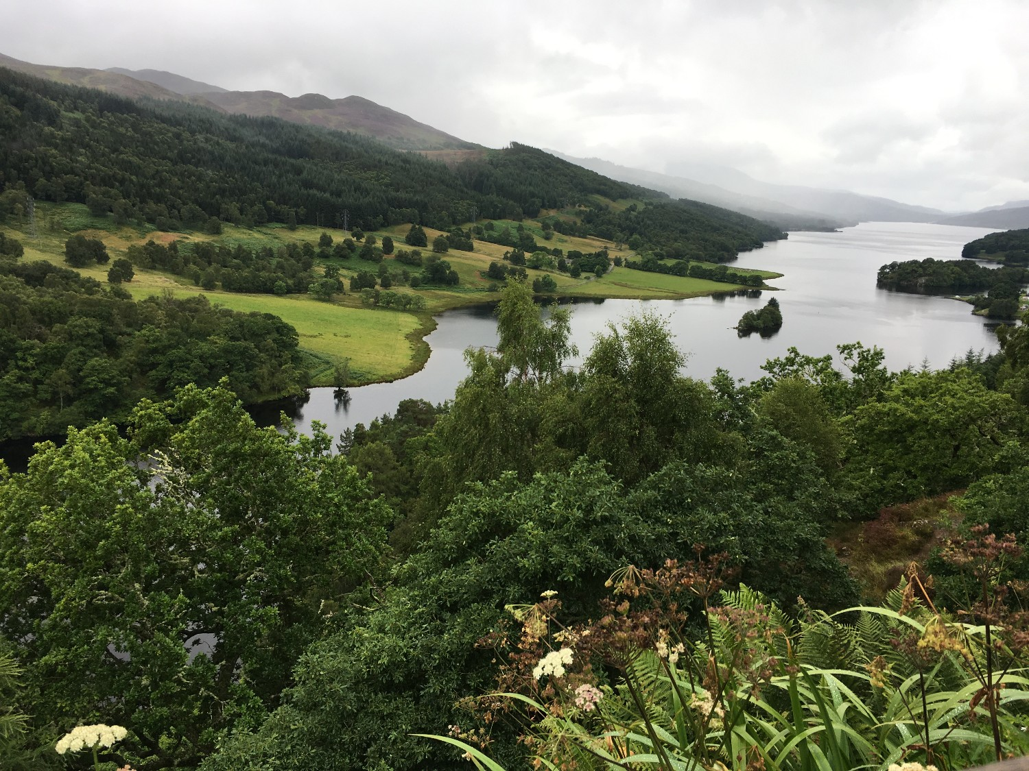 Queens View in Pitlochry - an easy day trip from Edinburgh for this lush vista over Loch Tummel