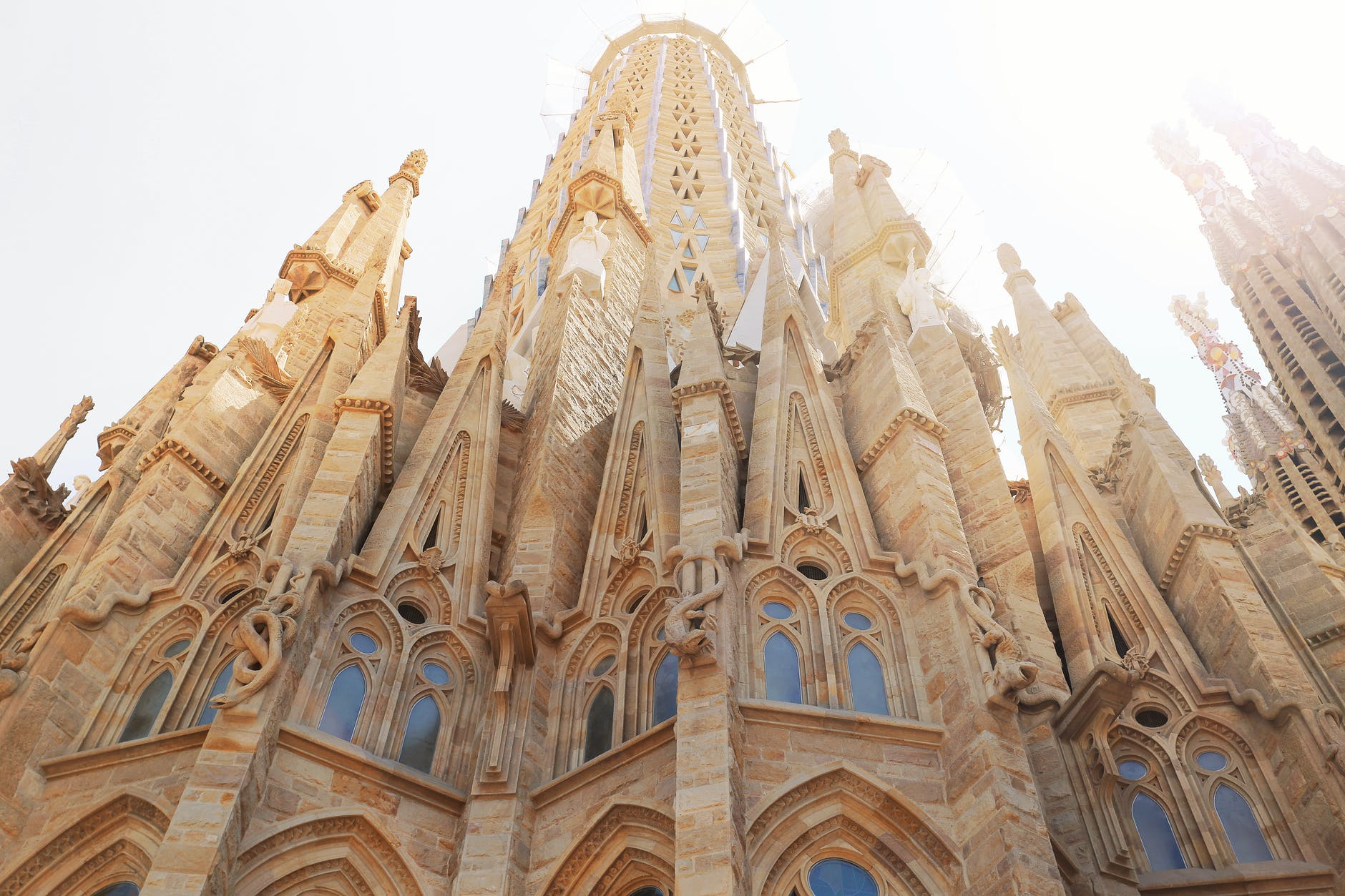Image of a low angle shot of church in Barcelona - tips for planning a trip to Barcelona, Spain, from Wanderful