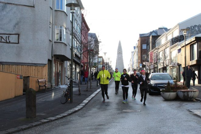 Image of the city streets of Reykjavik