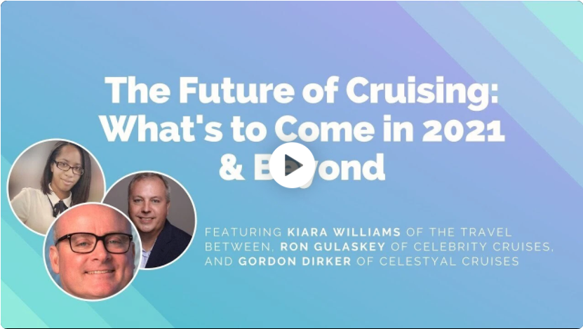 Video image from the panel discussion about the future of cruising with Wanderful