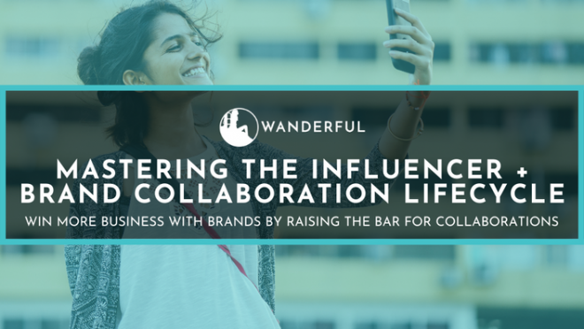 Course banner - Mastering the Influencer + Brand Collaboration Lifecycle course from Netanya Trimboli with Wanderful