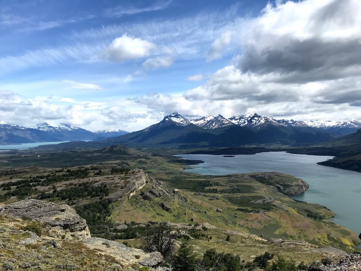 Beautiful view from a mountaintop on the Cerro Benítez hike in Puerto Natales, Chile