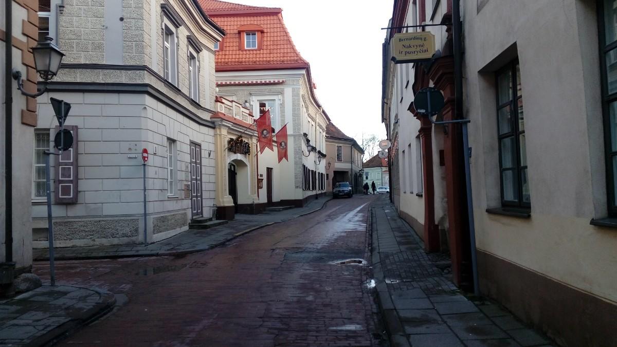 Vilnius Old Town narrow street
