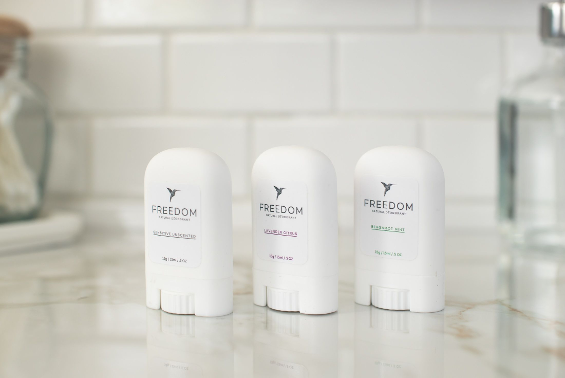 Freedom deodorant mini travel trio