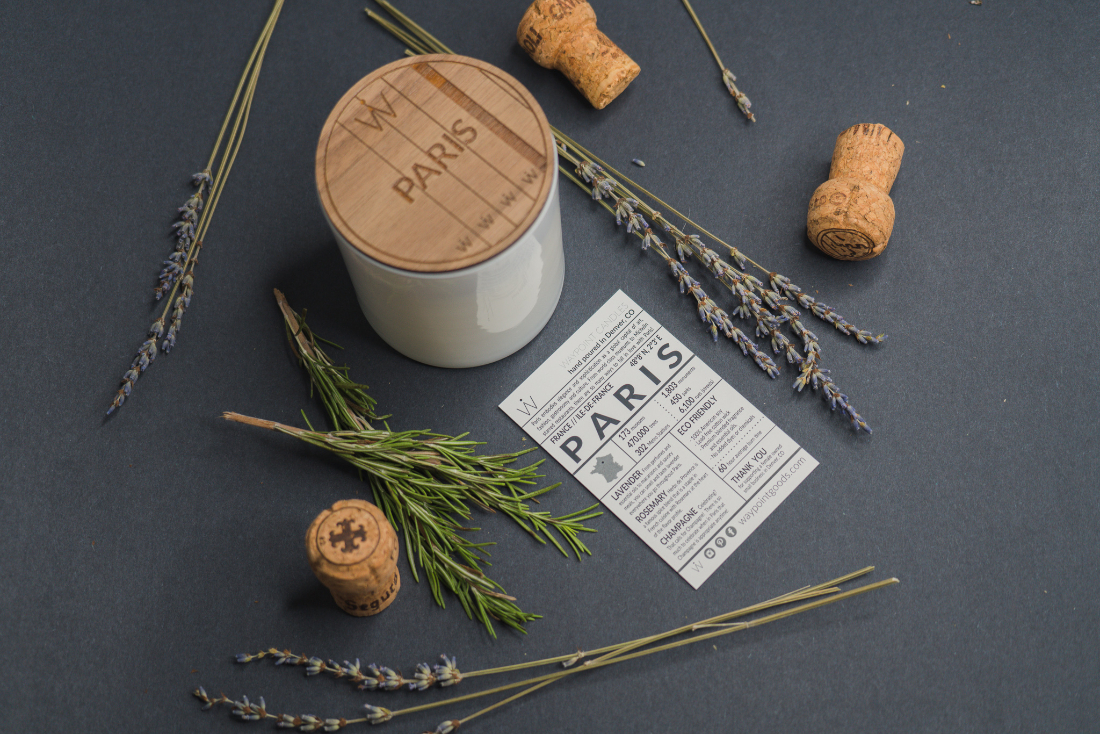 Waypoint Goods city-inspired candles: Paris scent