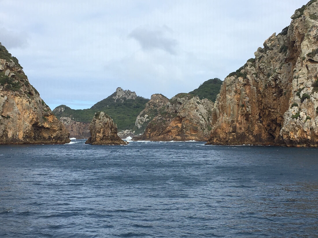Rocky island features and scenery