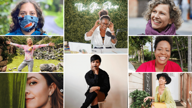 Collage of women - all Bessie Awards finalists for 2021 (Wanderful's awards for women of impact in travel)